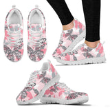 Pink Butterfly Sneakers Shoes