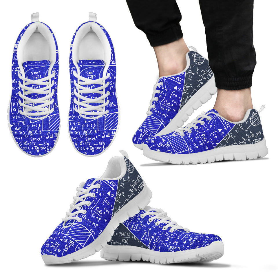 Math Blue Sneakers