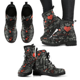 Black Valentine's Day Leather Boots Set A