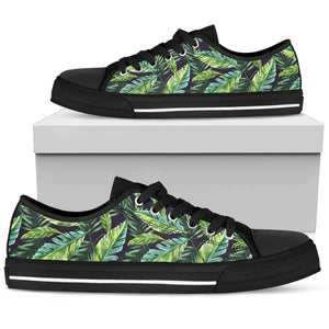 Tropical Palm Trees Leaves Low Top Shoes