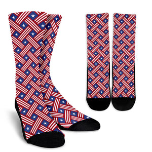 American Flag Unique Crew Socks
