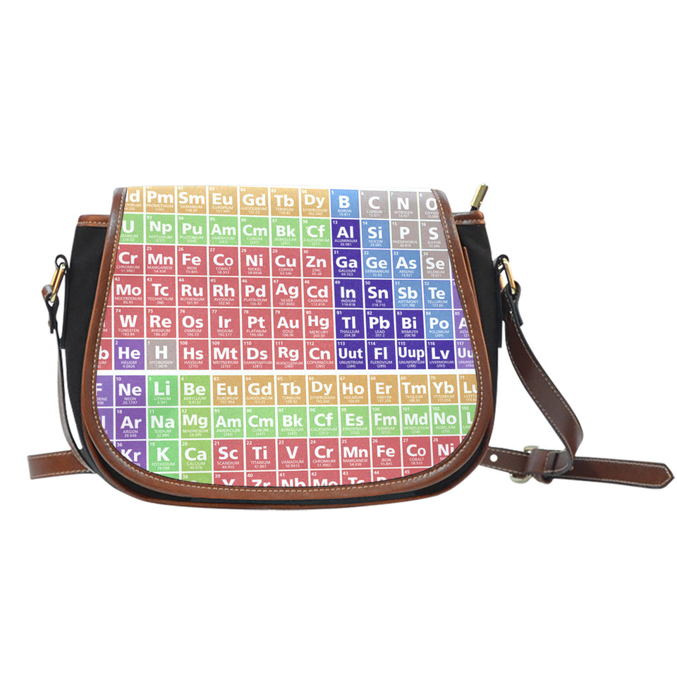 Periodic Canvas/Leather Saddle Bag