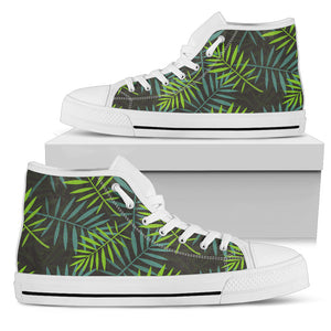 Tropical Leaves Palm Tree High Top Shoes