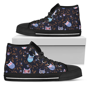 Owls Dark High Top Shoes