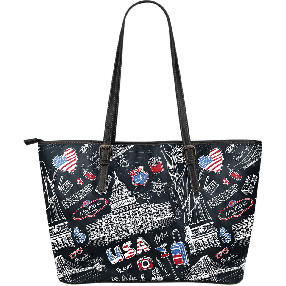 American Lover Large Leather Tote