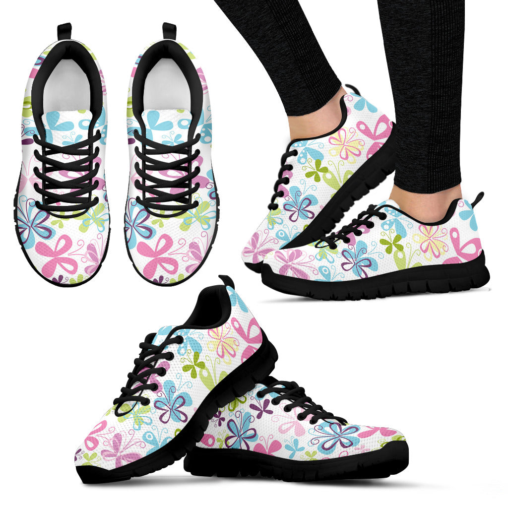 Butterfly Colorful Sneakers Shoes