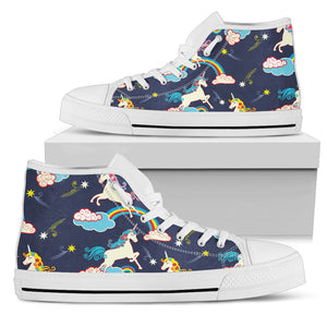 Unicorn Funny Fantasy High Top Shoes