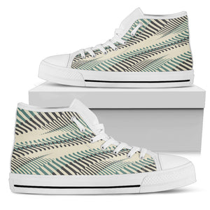 Vintage Wavy Striped Piano High Top Shoes