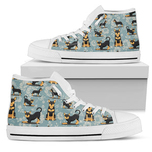 Kelpie Dog Print High Top Shoes