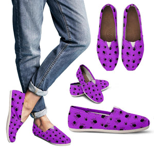 Purple Halloween Spiders Women's Casual Shoes