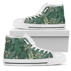 Tropical Palm Leaves High Top Shoes