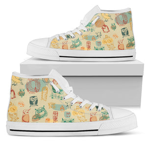 Owl Light Color High Top Shoes