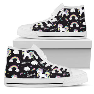 Unicorns Color Clouds High Top Shoes