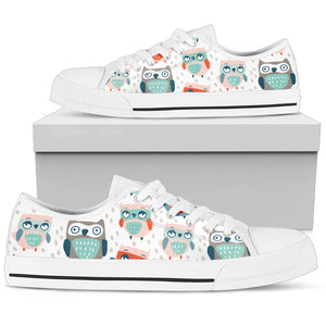 Cute Owls Low Top Shoes