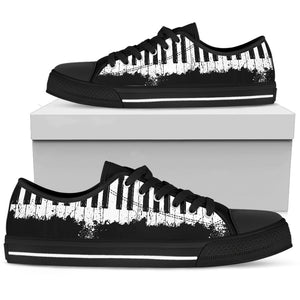Piano Music Lovers Black and White Low Top Shoes Set A