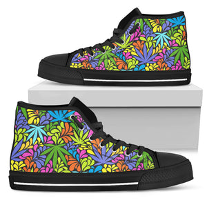 Weed Colorful High Top Shoes