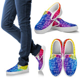Math Colorful Slip Ons