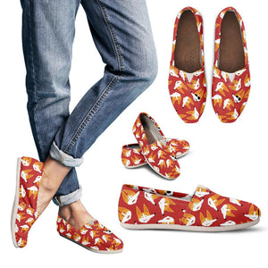 Red Corgi Face Emoji Women's Casual Shoes