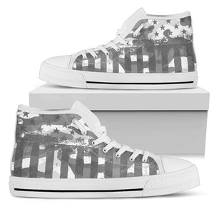 American Patriot Camouflage Grey Camo High Top Shoes