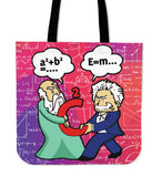 Pythagoras VS Einstein Tote Bag