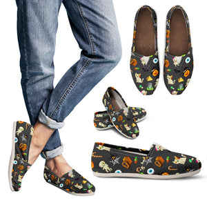 Dark Halloween Pattern Women's Casual Shoes