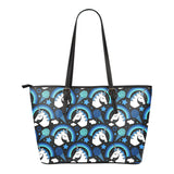 Unicorn Rainbow Dark Small Leather Tote