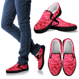 Math Red Slip Ons