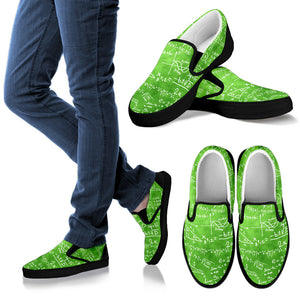 Math Green Slip Ons