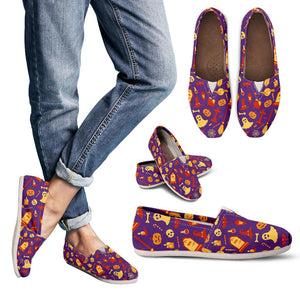 Purple Halloween Cute Women's Casual Shoes