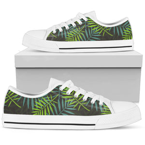 Tropical Leaves Palm Tree Low Top Shoes