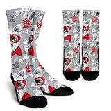 Yorkshire Terriers Gray Crew Socks