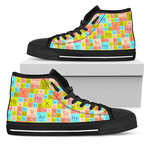 Chemistry Periodic Table Colorful High Top Shoes