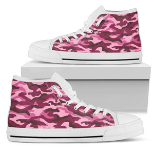 Pink Camouflage Camo Urban High Top Shoes