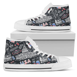 American Lover High Top Shoes