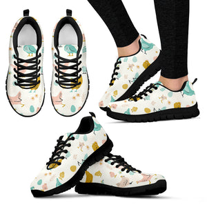 Vintage Chicken Easter Sneakers Shoes
