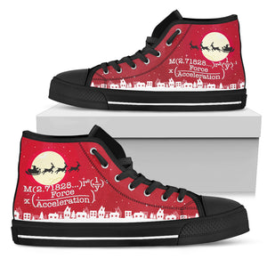 Math Xmas High Top Canvas Shoes