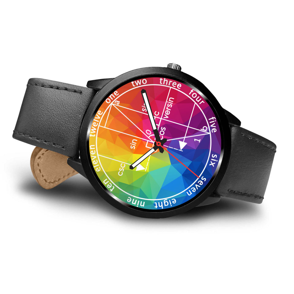 Math Geometry Colorful Wristwatch