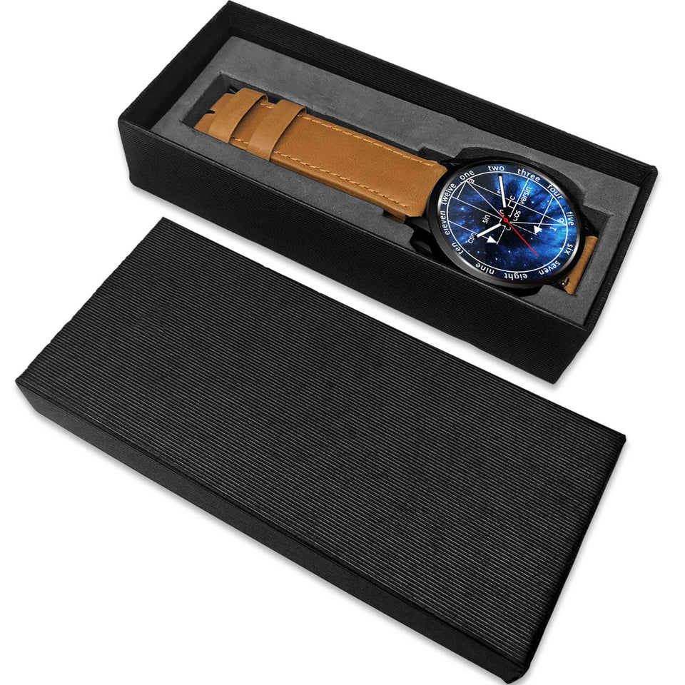 Math Geometry Galaxy Wristwatch