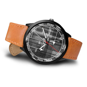 Math Geometry Grey Wristwatch