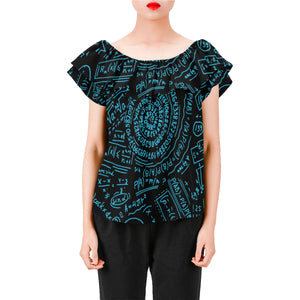 Math Black Women's A-line Chiffon Blouse