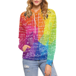 Math Colorful All Over Print Hoodie