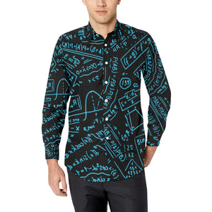 Math Black Men's All Over Print Long Sleeve Shirt