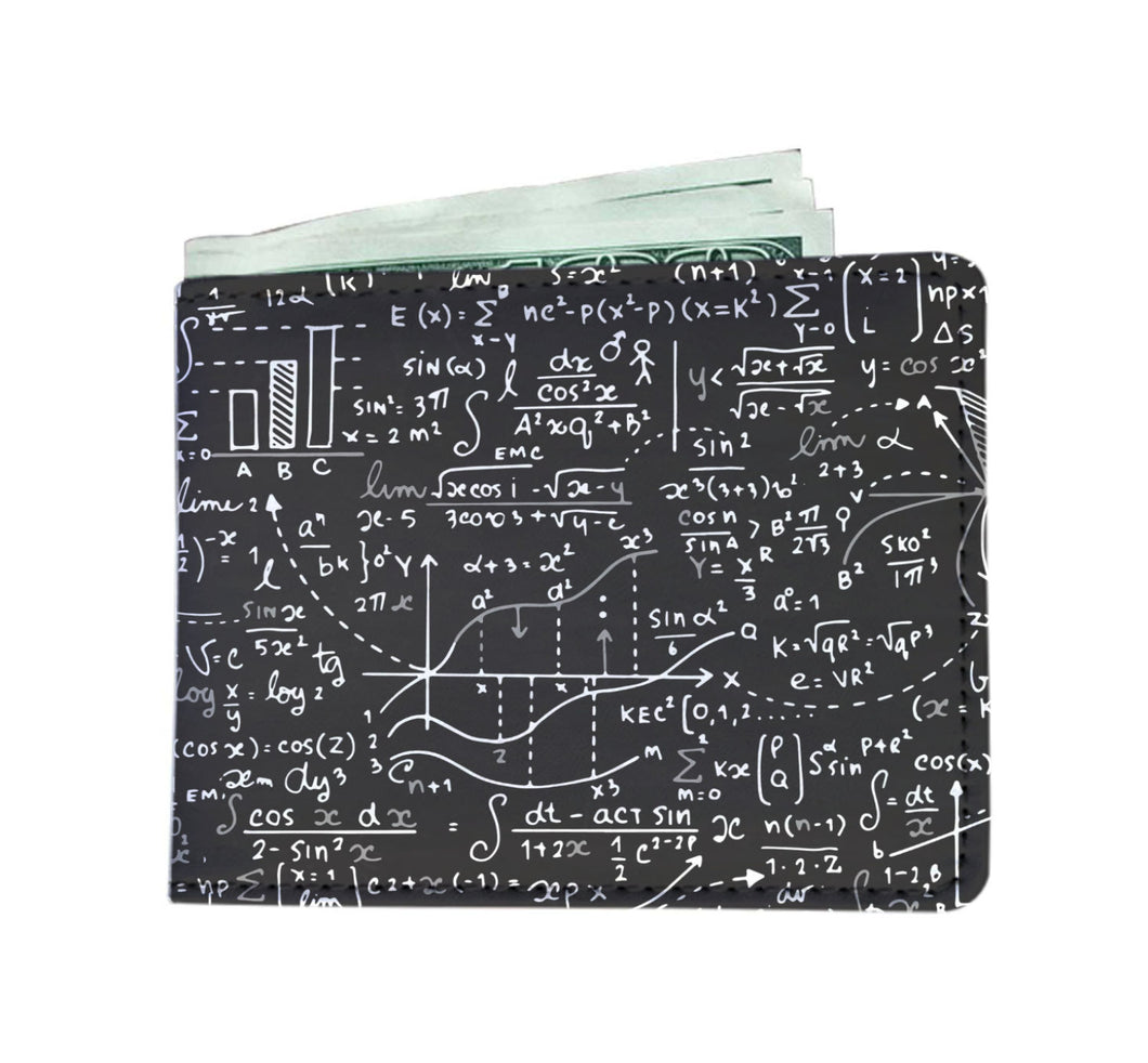 Math Men Wallet Black