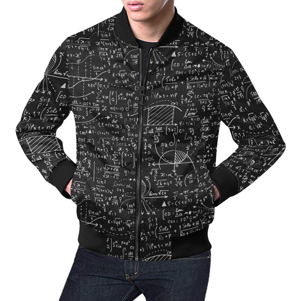 Math Black All Over Print Casual Jacket