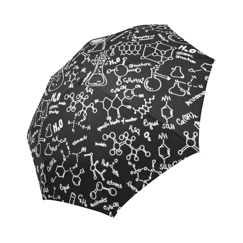 Chemistry Automatic Foldable Umbrella