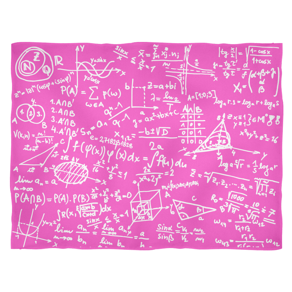 Math Fleece Blanket - Pink