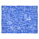 Math Fleece Blanket - Blue