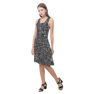 Math Black Casual Sundress