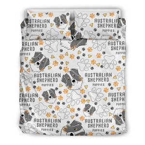 Abstract Australian Shepherd Bedding Set
