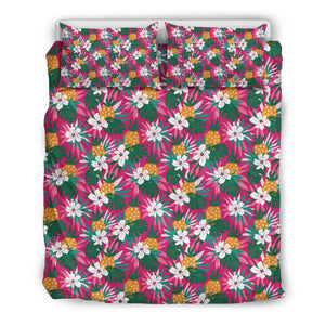 Floral Tropical Hawaiian Pattern Bedding Set